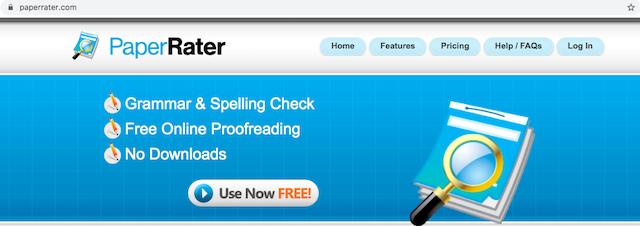 PaperRater.com giúp hỗ trợ kiểm tra ngữ pháp mà không cần phải tải phần mềm